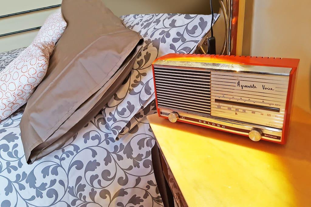Vintage style: old Geloso orange radio from 70's