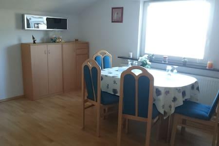 Schöne Wohnung am Rande des Naherholungsgebiets - Backnang - 公寓