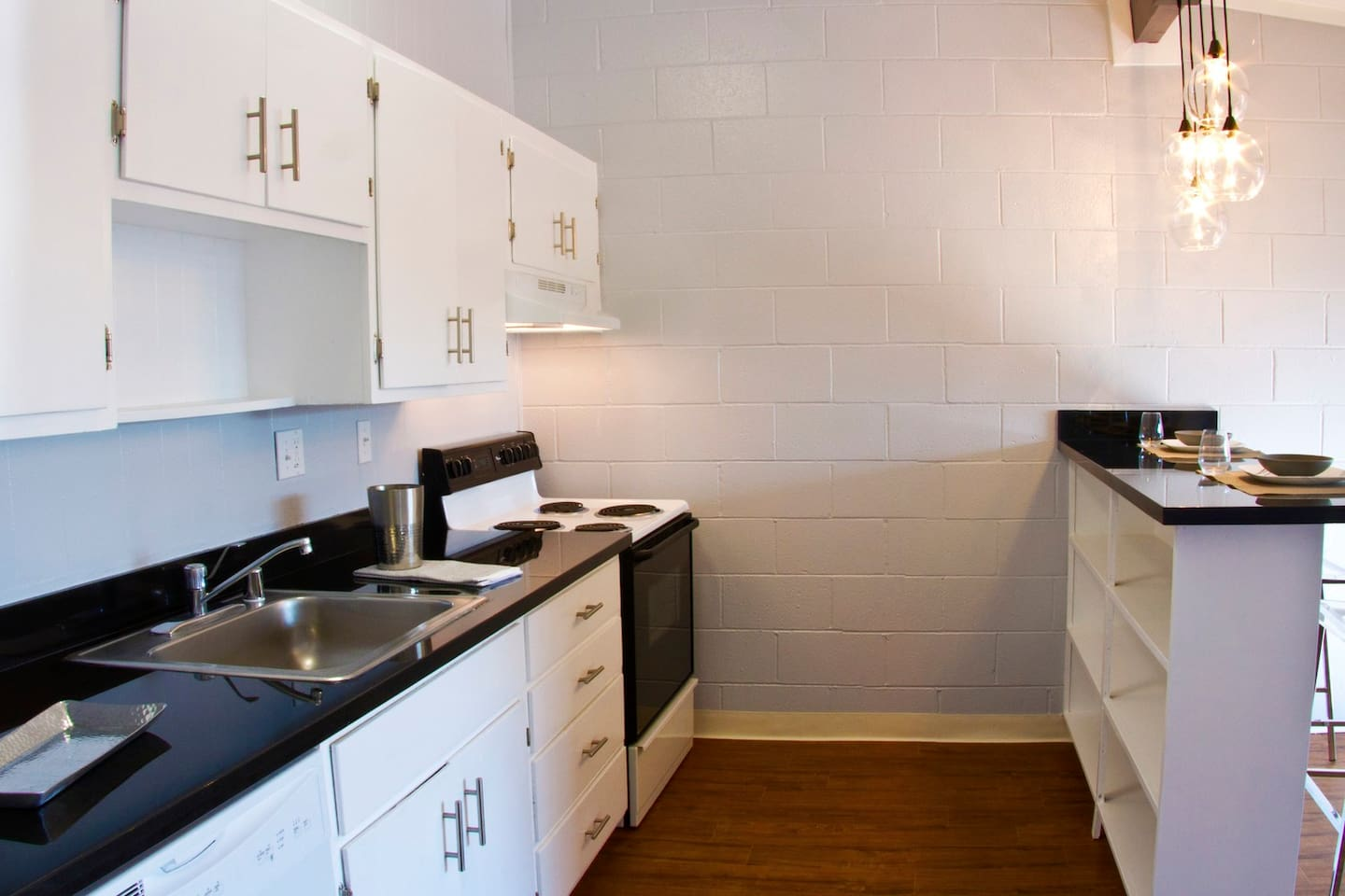 Includes kitchen, dish washer, pantry and stove. No microwave.