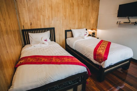 Heun @ Fahham - Twin Bed Room - Chiang Mai