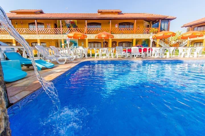 Apartamento - Hotel Pousada Paradise - Caraguá