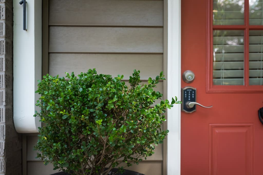 Keyless entry with a code specific to your stay.