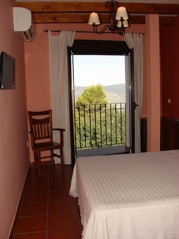 Detalle del balcón de la habitación