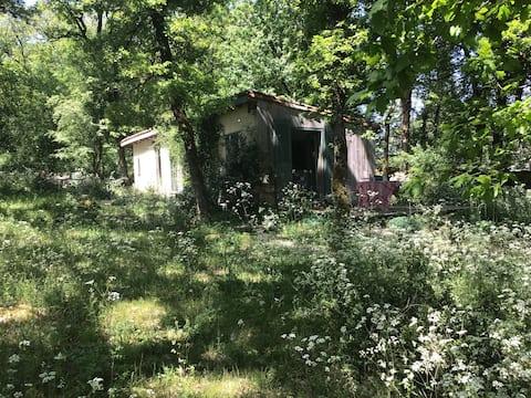 Acogedora casa de campo con en el bosque con estufa de leña