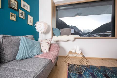 Apartment Alpennest Stubai- with glacier view