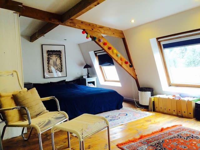 Big cosy attic bedroom (ensuite) - Joinville-le-Pont - Ev