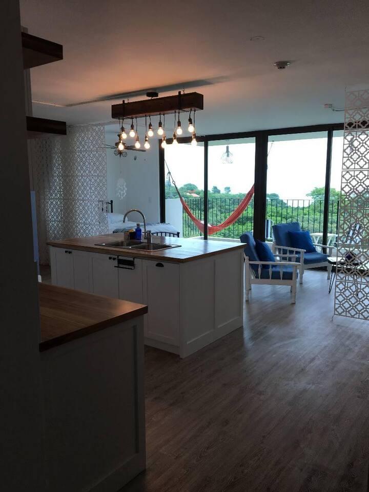 Lindo y acogedor apartamento loft en la playa