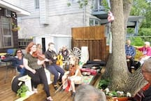 Local Musicians show up whenever the spirit moves them and they are always made welcome  by the HOST and the Guests.