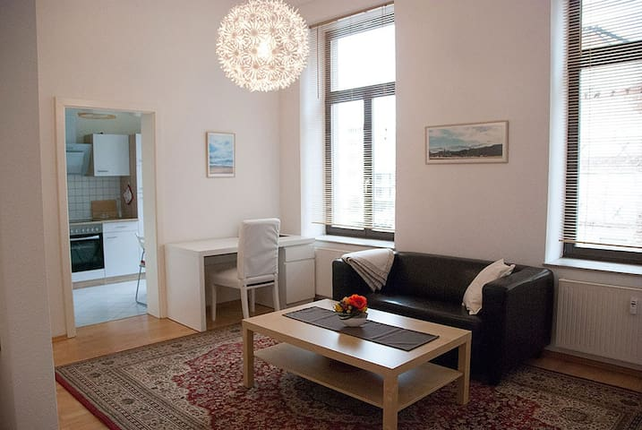 Cozy modern flat in the centre near train station - Leipzig - Appartement