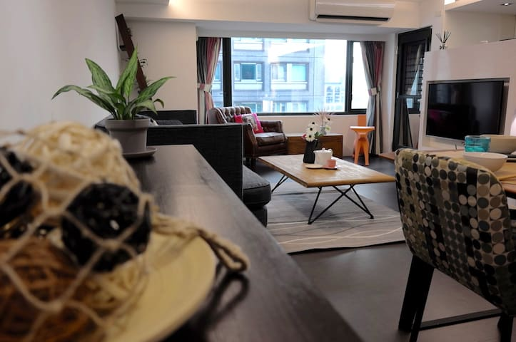 Cozy Designer Apartment w/ 101 view - 信義區 - Loft