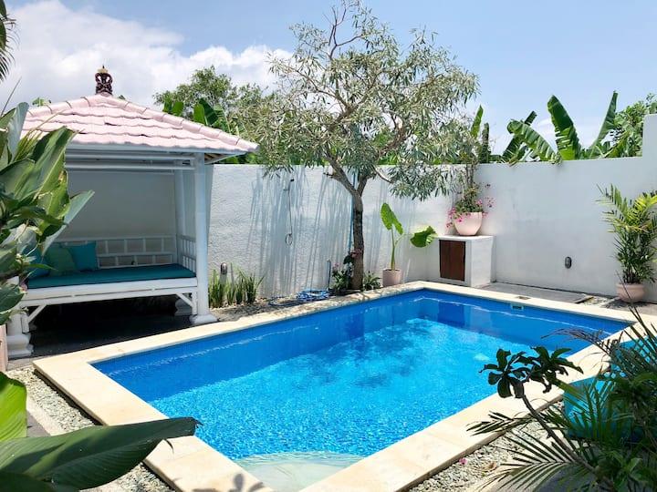 Canggu villa with stunning rice padi views