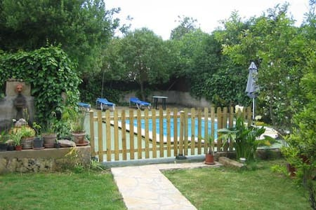 Happy  holidays in nature, with safe swimming pool