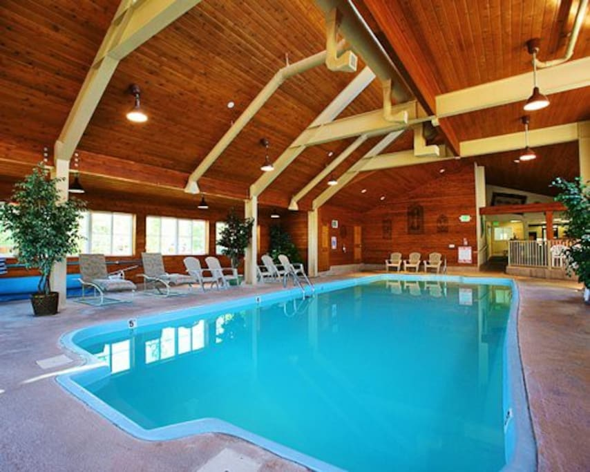 We love the indoor pool and hot tub!
