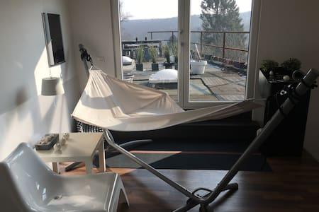Grande chambre d'hôte et sa terrasse ensoleillée
