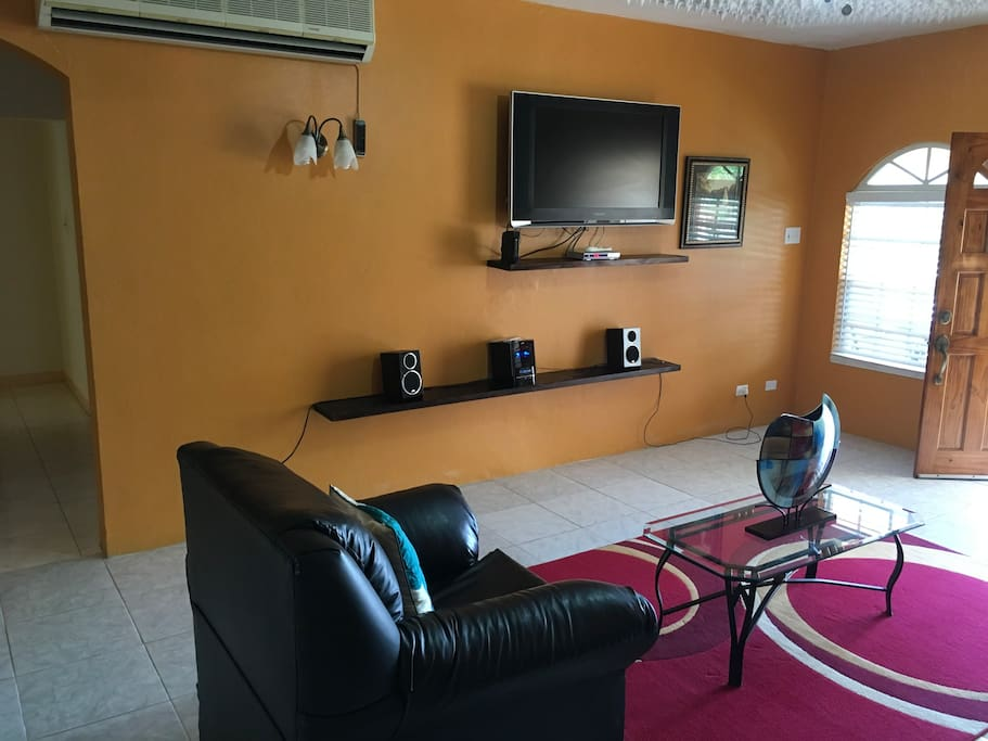Different angle of your spacious living room.