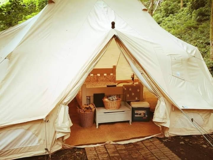 Hidden Wood Secret Glamping with Hot Tub *Private*