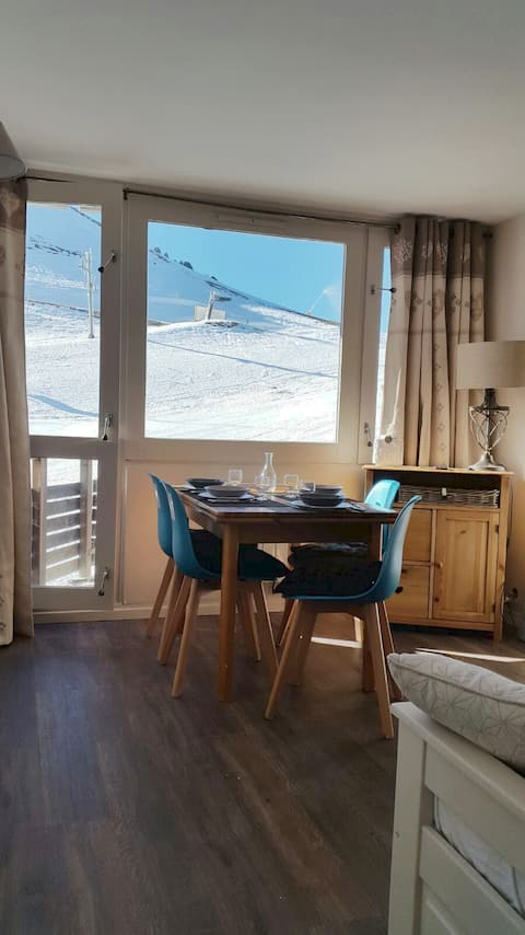 Beautiful flat  on the slopes. Directly south