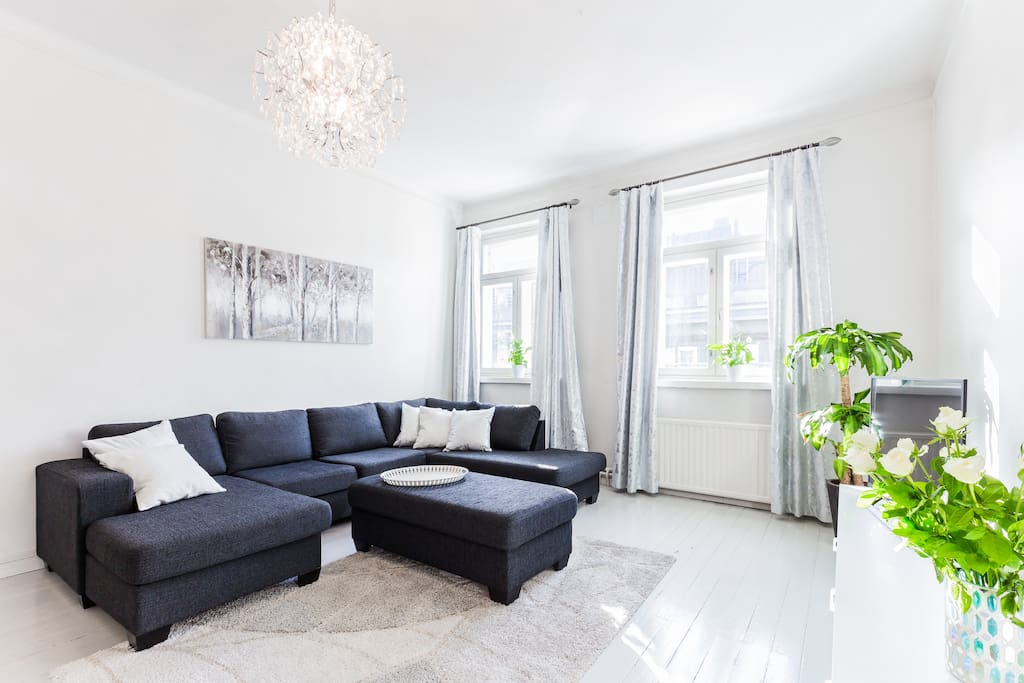 Living room corner sofa bed