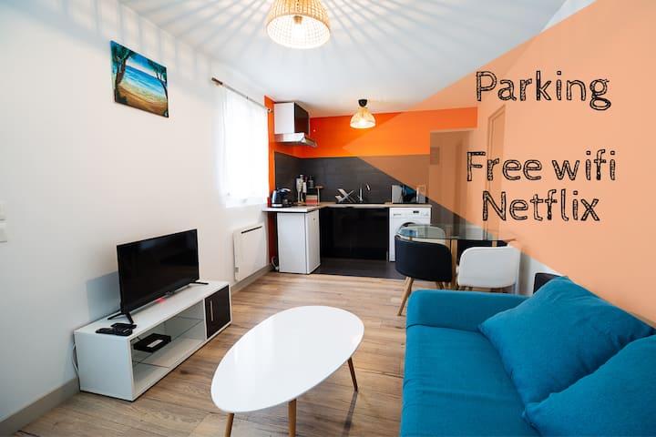 Lamartine Les Halles T2 Neuf parking gratuit