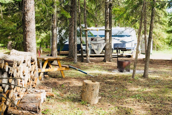Gorgeous RV site at the Canadian Bighorn Resort