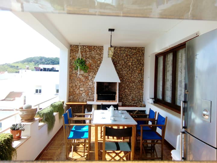 Apartment with 3 bedrooms in Ferreries, with wonderful mountain view, furnished terrace and WiFi - 7 km from the beach