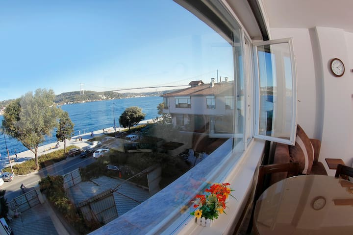 Fantastic bosphorus and bridge view 1+1 apartment