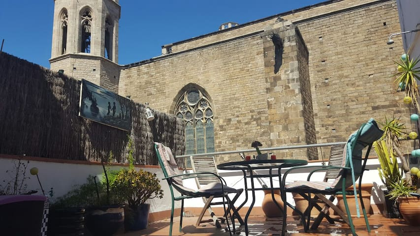 Glorious loft w terrace in the heart of old town lofts - Location loft barcelone ...