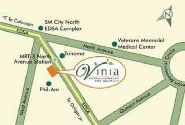 Exact location of the Vinia Residences