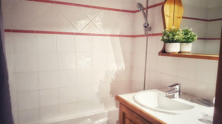 Bathroom shower.