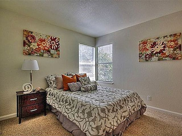dbl bedroom with Plenty nature light and privacy without facing neighbor's window