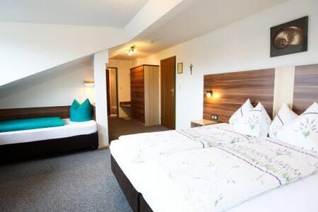 unser schönes Familienzimmer für 2 Erwachsene und 1 Kind & Frühstücksbuffet Bei uns sind Sie im Sommer sowie  Winter herzlich willkommen! Hotel mit Ferienwohnungen, Zimmer und ein Rollstuhlgerechtes Zimmer Glungezer in Tulfes bei Innsbruck und Hall