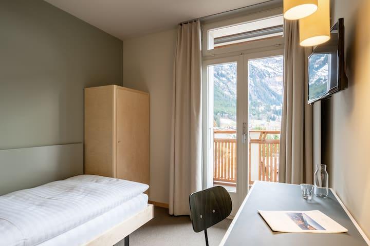 Einzelzimmer mit Jungfrausicht