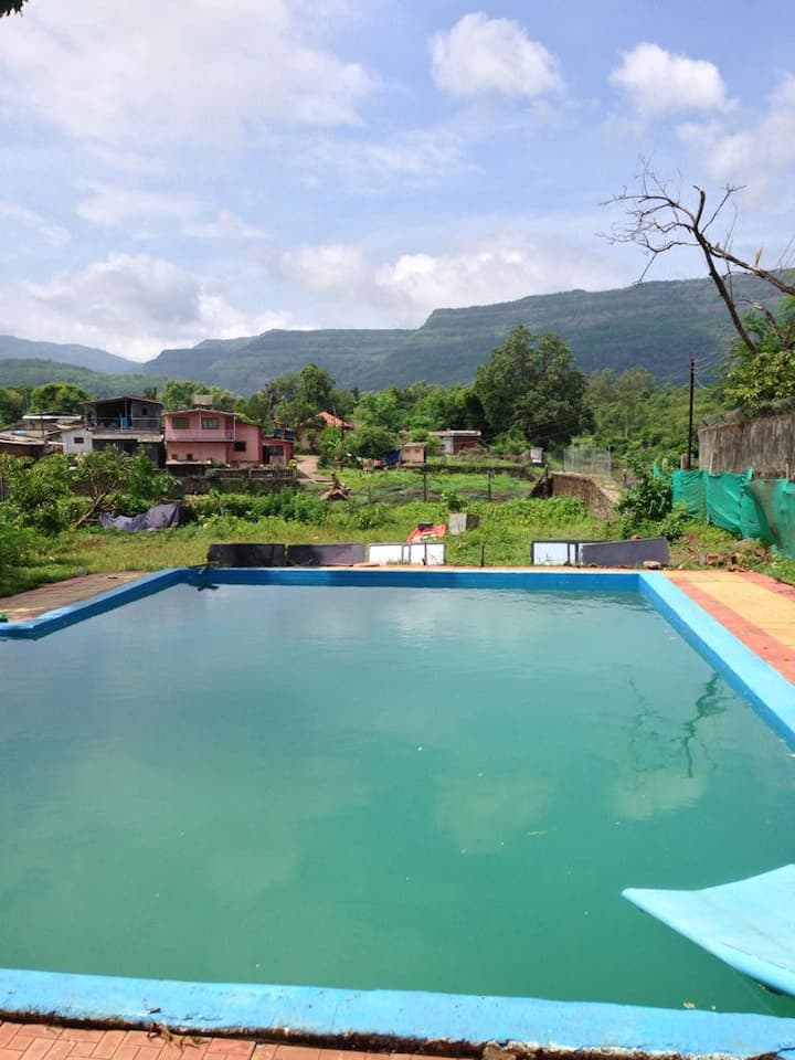 Farm Stay with private pool and Home Food @ Karjat
