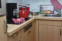 Küchennische mit Ausstattung