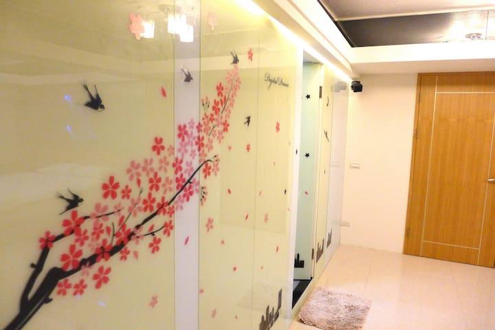衛浴門外壁飾