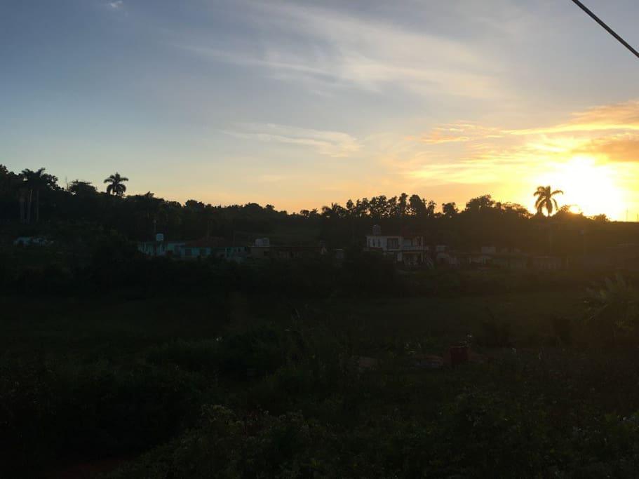 Vista del barrio desde la carretera la Ermita