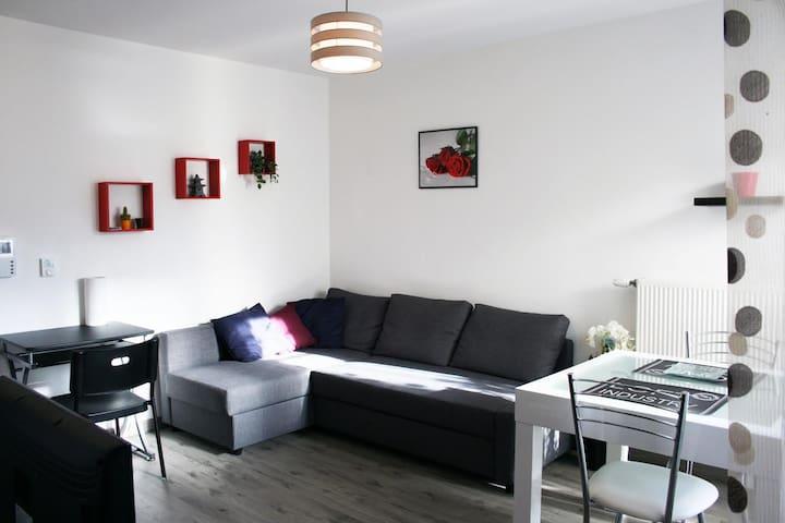 F2 avec terrasse entre Paris et Disneyland - Le Plessis-Trévise - Apartament