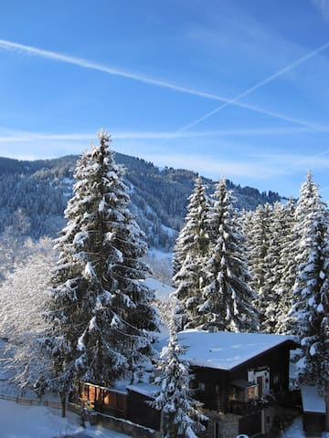 Mountain View - central sunny overlooking pistes