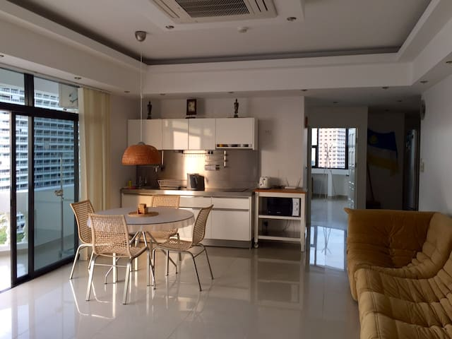 Living area combined with kitchen