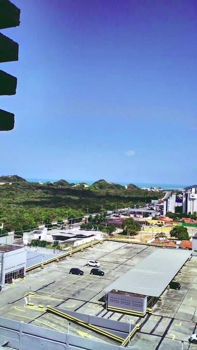 Vista  do quarto para praia de Ponta Negra.
