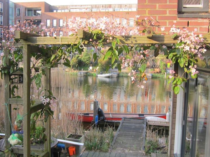 Spacious studio with terrace on waterside