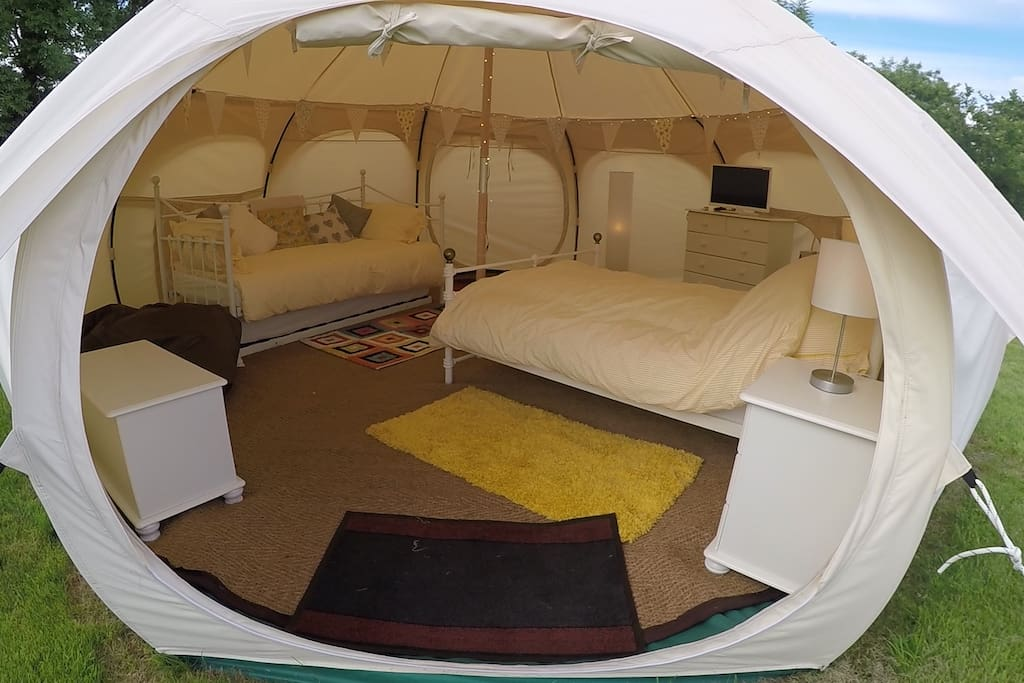 Have a look inside our luxury lotus belle tent (yurt)