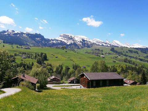 Fantastisk utsikt över Churfirsten i Wildhaus