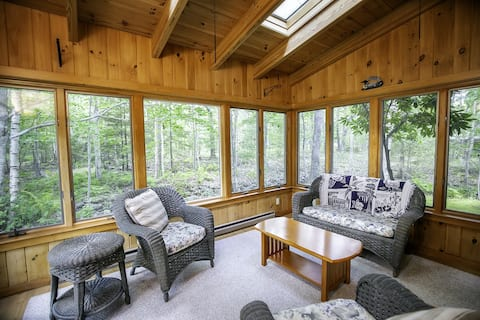 Woodland Home w/ Fireplace & Fitness Room - Minutes to Downtown/Acadia!