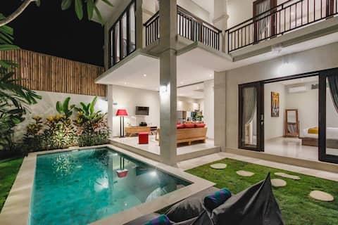 Villa 66·Modern&central, 5mn walk to double6 beach
