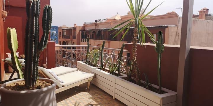 Appartement à Gueliz avec Terrasse | Climatisation