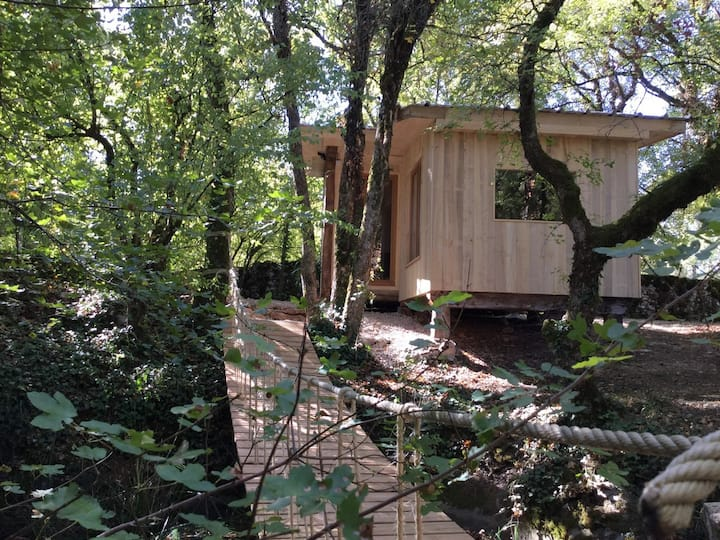 Cabane insolite Mas de tourel avec spa privatif