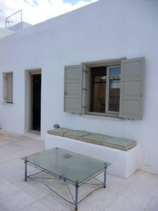The veranda has plenty of lounge area.