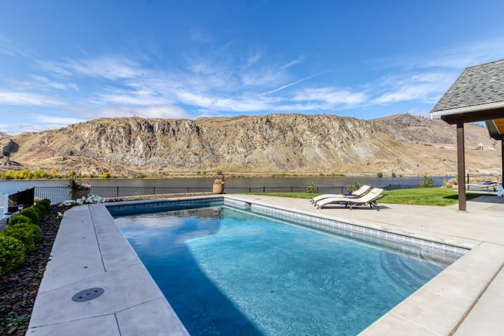 Stunning home w/ private pool, hot tub, game room, & river views