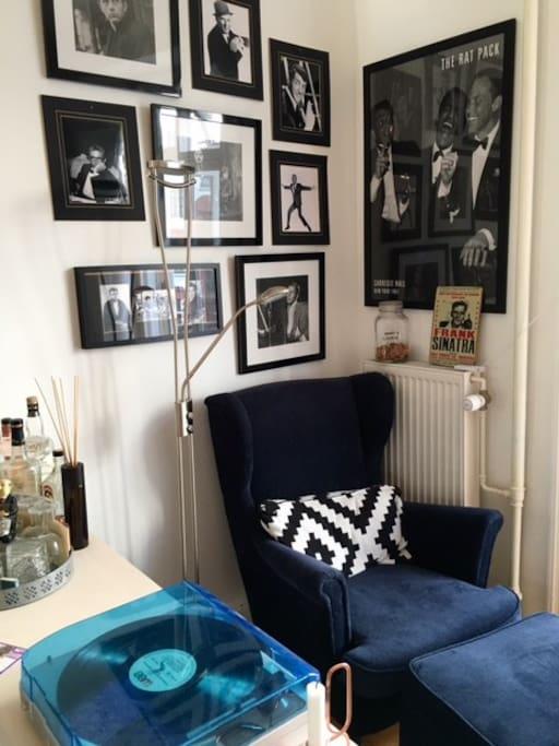 Reading corner in the living room